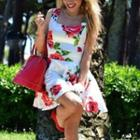 Sleeveless Floral Party Dress
