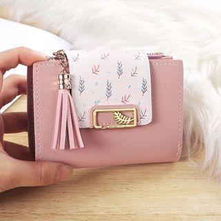 Tassel Detail Faux Leather Wallet