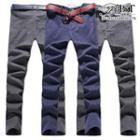 Plain Straight-leg Pants