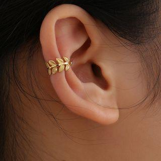 Alloy Leaf Cuff Earring 1953 - Gold - One Size