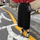 Midi Back-slit H-line Skirt