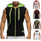 Sleeveless Hooded Zip Jacket