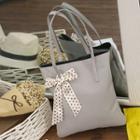 Set Of 2: Ribbon Detail Shopper Bag + Crossbody Bag