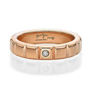 Diamond Stripe Ring (ip Rose Gold)