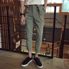 Cropped Pants With Suspender