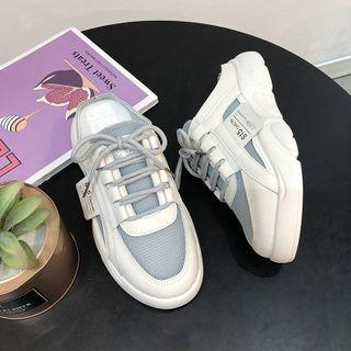Label Applique Sneaker Mules