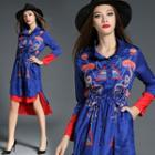 Printed Embroidery Shirtdress