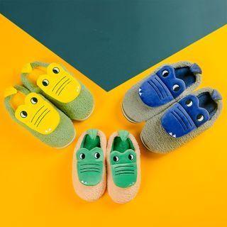 Crocodile Paneled Slippers