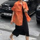 Split Hem Midi Skirt