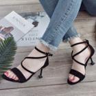 Cross Strap Heel Sandals