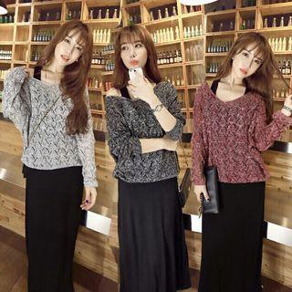 Set: Sweater + Sleeveless Midi Dress
