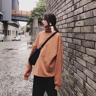 Turtleneck Fleece-lining Pullover
