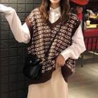 Patterned Vest / Midi Skirt