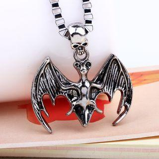 Skull & Bat Pendant Necklace