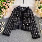 Oversize Check Tweed Coat