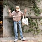 Long-sleeve Zip Jacket Almond - One Size