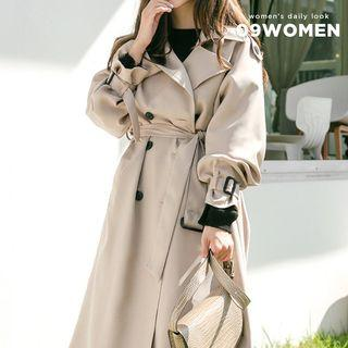 Belted Loose-fit Long Trench Coat