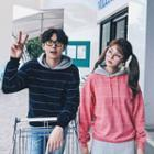 Couple Matching Hooded Striped Pullover