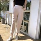Plain Cropped Straight Pants