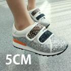 Glittered Velcro Platform Sneakers