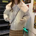Furry Panel Padded Jacket