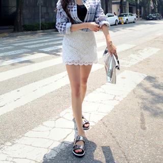 Laced Miniskirt