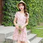 Polka Dot Short-sleeve A-line Dress