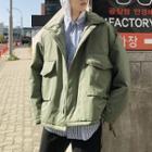 Pocketed Padded Zip Jacket