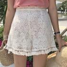 Tasseled Lace Shorts
