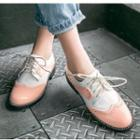 Patent Wing-tip Flat Oxfords
