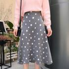 Dotted A-line Knitted Skirt