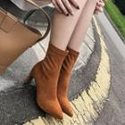 Genuine Leather Block-heel Ankle Boots