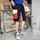 Pocketed Color Block Shorts