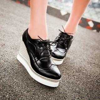 Wedge Lace-up Oxfords
