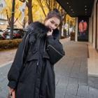 Hooded Furry Trim Jacket