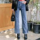 Slit-side Wide-leg Jeans