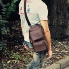 Faux-leather Sling Bag
