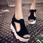 Hidden Wedge Platform Sandals