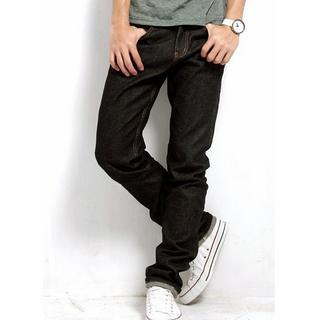 Stitched Straight-cut Jeans