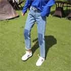 Color-block Harem Jeans