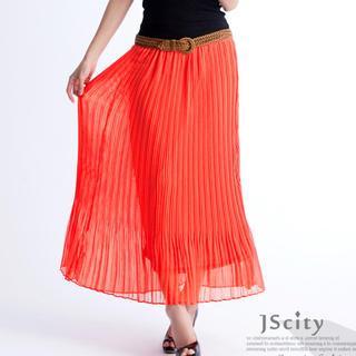 Accordion-pleat Maxi Skirt