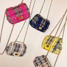 Tweed Chain Shoulder Bag