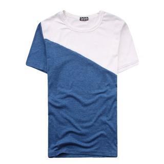 Short-sleeve Two-tone T-shirt