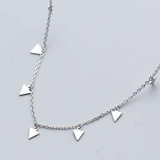 Triangle Necklace 925 Sterling Silver - Necklace - One Size