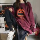 Pumpkin Printed Sweatshirt / Cargo Pants
