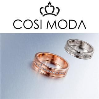 Steel Ring With Cubic Zirconia