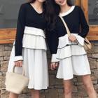 Long-sleeve Mini Layered Dress / Long-sleeve Midi Layered Dress