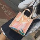 Square Pvc Tote With Shoulder Strap