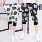 Floral Print Cropped Pants
