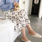 Foral Printed Midi Skirt